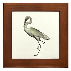 Egret Framed Tile