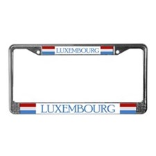 """Luxembourg Flag"" License Plate Frame"