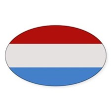 """Luxembourg Flag"" Oval Decal"