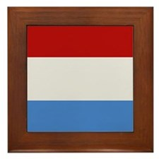 """Luxembourg Flag"" Framed Tile"