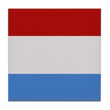 """Luxembourg Flag"" Tile Coaster"