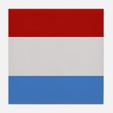 """""""Luxembourg Flag"""" Tile Coaster"""