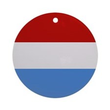 """""""Luxembourg Flag"""" Ornament (Round)"""