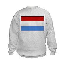 """""""Luxembourg Flag"""" Sweatshirt"""