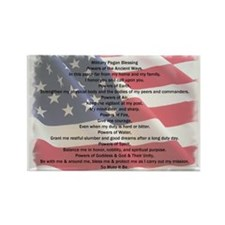 Pagan Military Blessing Magnet