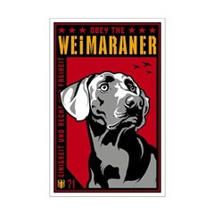 Obey the Weimaraner! Dictator Posters