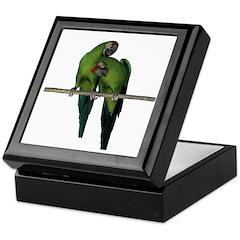Military Macaw (Pair) Keepsake Box