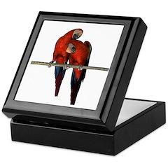 Scarlet Macaw (Pair) Keepsake Box