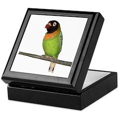 Black Cheeked Lovebird Keepsake Box