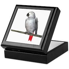 Congo African Grey Keepsake Box