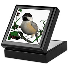 Black Capped Chickadee Keepsake Box
