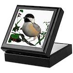 Black Capped Chickadee Keepsake Box