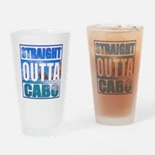 Straight Outta Cabo Drinking Glass