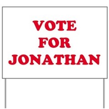 VOTE FOR JONATHAN   Yard Sign