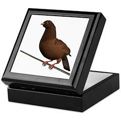 Brown Rock Dove Keepsake Box