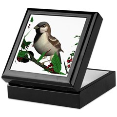 House Sparrow (male) Keepsake Box