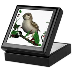 House Sparrow (female) Keepsake Box