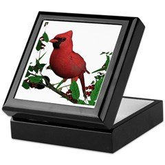 Cardinal (male) Keepsake Box