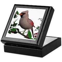 Cardinal (female) Keepsake Box