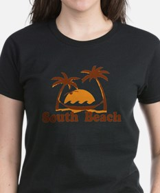 South Beach - Palm Trees Design. T-Shirt