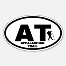 Appalachian Trail Hiker Oval Bumper Stickers