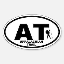 Appalachian Trail Hiker Oval Stickers