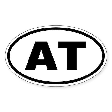 Basic Appalachian Trail Oval Sticker
