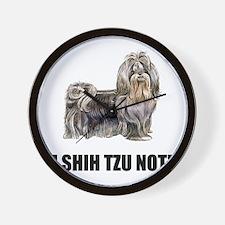Shih Tzu Not Wall Clock