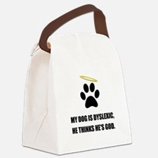 Dog Dyslexic God Canvas Lunch Bag