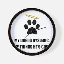 Dog Dyslexic God Wall Clock