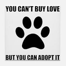 Adopt Love Tile Coaster