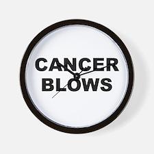 Cancer Blows Wall Clock