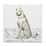 White Wolf Tile Coaster
