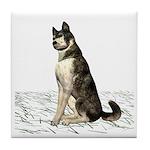 Grey Wolf Tile Coaster