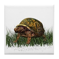 Box Turtle Tile Coaster