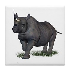 Rhinoceros Tile Coaster