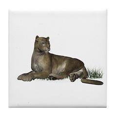 Gray Puma Tile Coaster