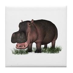 Hippopotamus Tile Coaster