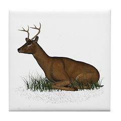 Deer (buck) Tile Coaster