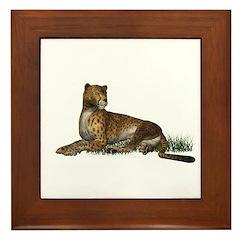 Cheetah Framed Tile