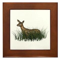 Deer (fawn) Framed Tile