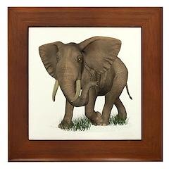 Elephant Framed Tile