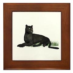 Black Leopard Framed Tile