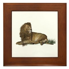 Lion Framed Tile