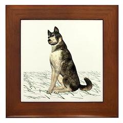 Grey Wolf Framed Tile