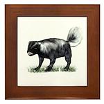Skunk Framed Tile