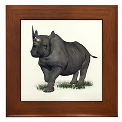 Rhinoceros Framed Tile