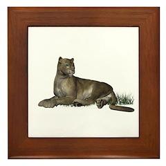 Gray Puma Framed Tile