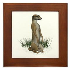 Meerkat Framed Tile