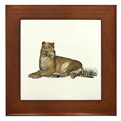 Lioness Framed Tile